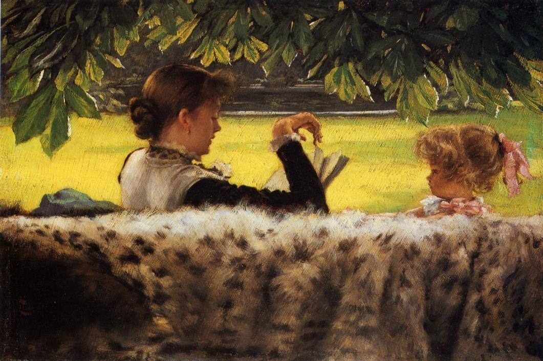 Reading a story 1878 James Tissot